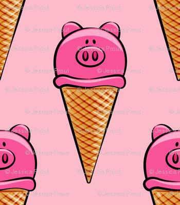 pig icecream cones on pink