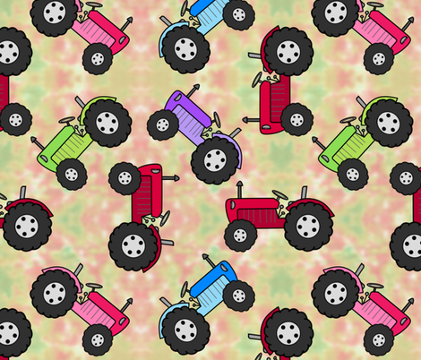 Tractor Parade Grass fabric by karwilbedesigns on Spoonflower - custom fabric