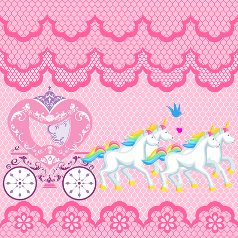 Princess Pimp Your Ride fabric by fabric_is_my_name on Spoonflower - custom fabric