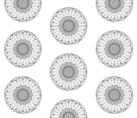 Fuck This - mandala (white) fabric by secretbean on Spoonflower - custom fabric
