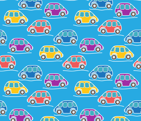 cars fabric by tatyana_okhitina on Spoonflower - custom fabric