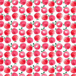 Watercolor red apples