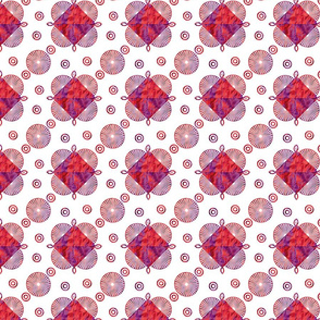 Abstract geometrical pattern with watercolor texture