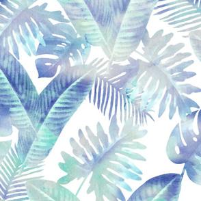 Watercolor Tropical - Green