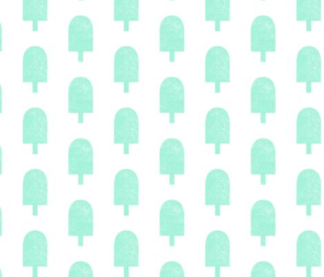 Ice Cream Stamp - Mint fabric by kimsa on Spoonflower - custom fabric