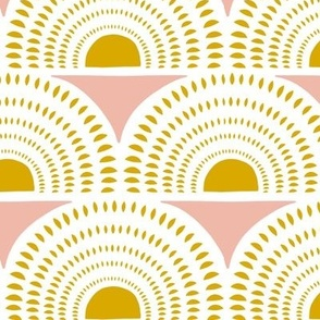 Aurora - Blush & Goldenrod Geometric