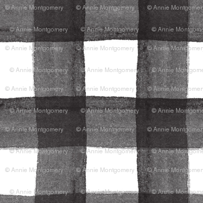 Black Watercolor Gingham