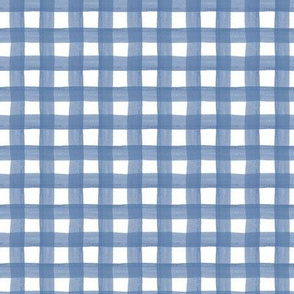 Blue Watercolor Gingham