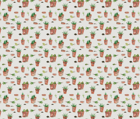 Plant party_05 fabric by youdesignme on Spoonflower - custom fabric