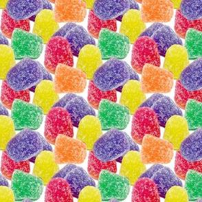 2 custom smaller rainbow colorful gum drops candy