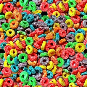 3 smaller custom colorful rainbow cereal
