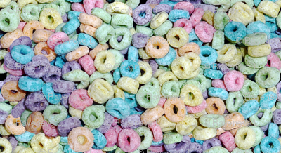 4 custom smaller pastel colorful rainbow cereal