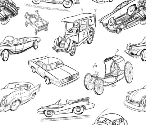R19jun18_final_b_w_assemblage_png_drawings_of_cars_with_tri_corner_hat_4_for_dream_four_wheels_copyright_2018_by_edward_huse_shop_preview