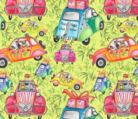 Make love not war, by Susanne Mason fabric by susanne_mason_ on Spoonflower - custom fabric