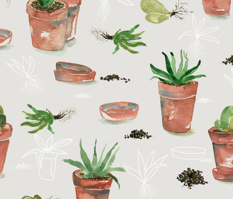 Plant party  fabric by youdesignme on Spoonflower - custom fabric