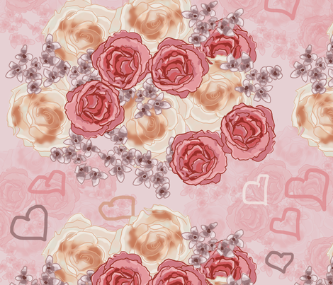 love, flowers fabric by avot_art on Spoonflower - custom fabric