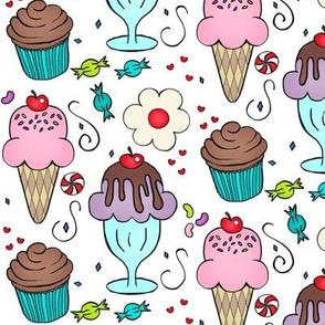 The 4 C's / Cookies, Cupcakes, Candy & Cones -ch-ed