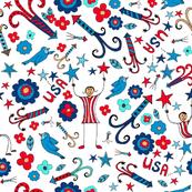 Firecrackers, Flowers and Stars, medium