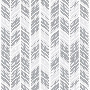 Abstract Feathers Gray