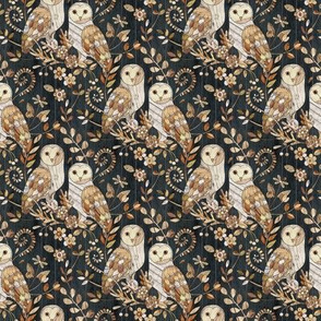 Wooden Wonderland Barn Owl Collage - tiny