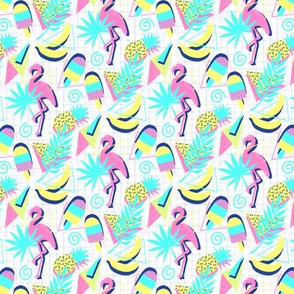 80s Flashback Tropical Fun - extra small