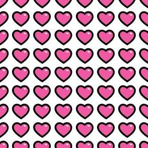 aloha hearts pink 1 inch