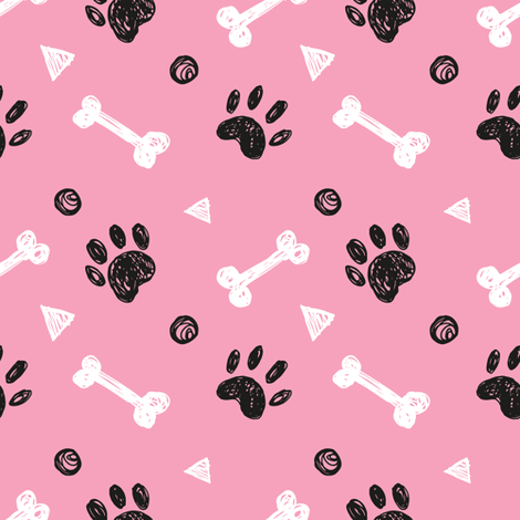 Pet pattern fabric by whimsical_brush on Spoonflower - custom fabric
