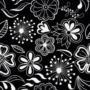 Nice doodle flowers