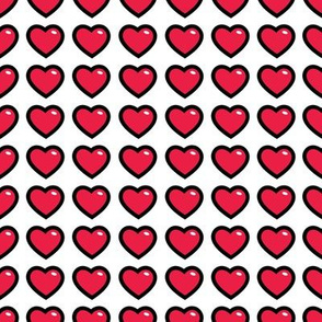 aloha hearts red 1 inch