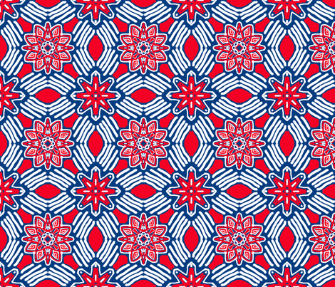 Star with Striped Diamonds, small fabric by palifino on Spoonflower - custom fabric