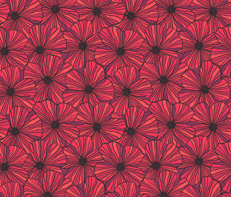 Pleasant Poppies fabric by robyriker on Spoonflower - custom fabric