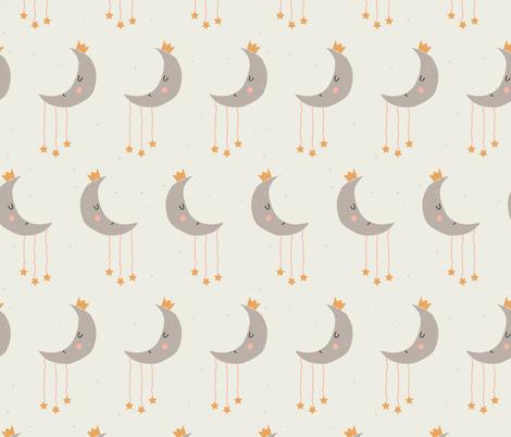 sleepy moon  fabric by gkumardesign on Spoonflower - custom fabric