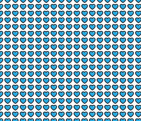 aloha hearts blue 1 inch fabric by alohababy on Spoonflower - custom fabric