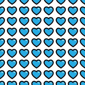 aloha hearts blue 1 inch