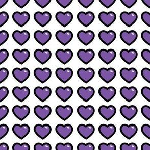 aloha hearts grape 1 inch