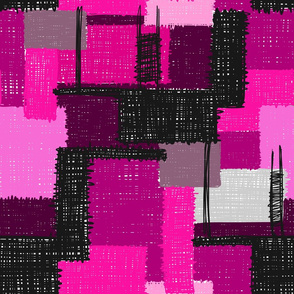 Inky Scribbles in Pink