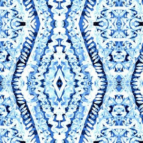 Blue diamond zig zag fantasy. Summer holidays awesome pattern. Aztec kilim imitation. Tye die watercolor fun.