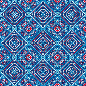 Patriotic Loops and Squares, small