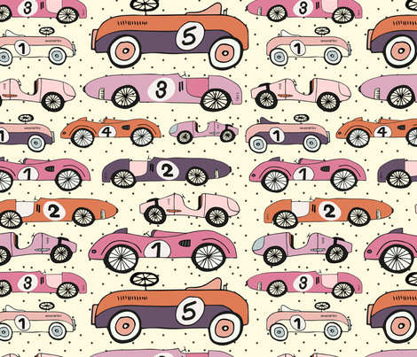 vintage Cars fabric by daisies_and_design on Spoonflower - custom fabric