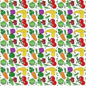 Eat your veggies tea towel