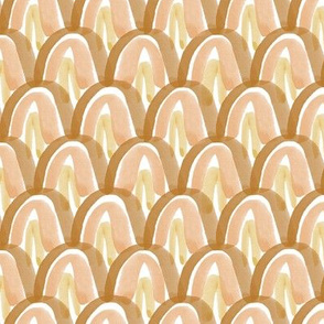 Golden Watercolor Scales