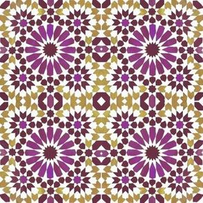 Moorish Moroccan Purple Stars
