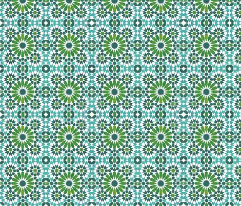 Moorish Moroccan Turquoise Stars fabric by brainsarepretty on Spoonflower - custom fabric
