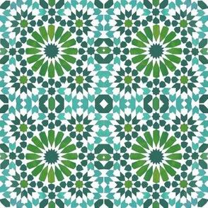 Moorish Moroccan Turquoise Stars