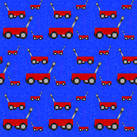 Little Red Wagon fabric by compugraphd on Spoonflower - custom fabric