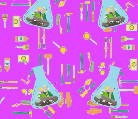 archeology_of_princesses fabric by quizzicalkittydesigns on Spoonflower - custom fabric
