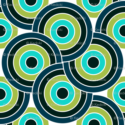 Circles in Blue and Green Ocean Colors by kedoki