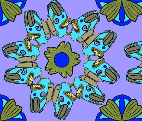 Mini Cooper Fun! fabric by baradraig on Spoonflower - custom fabric
