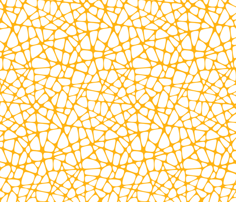 Webxotic yellow fabric by madtropic on Spoonflower - custom fabric