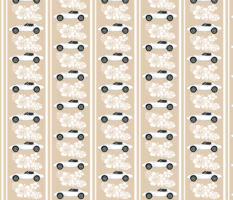 Corvette Luau fabric by myartbylynnette on Spoonflower - custom fabric